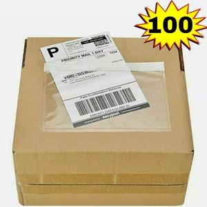 Packing List Invoice Label Pouches 7.5x5.5 Clear